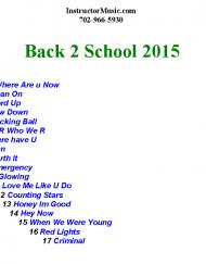Back 2 School 2015