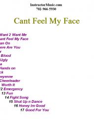Cant Feel My Face