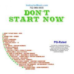 Don't Start Now