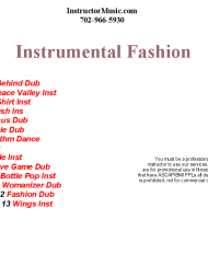 Instrumental Fashion