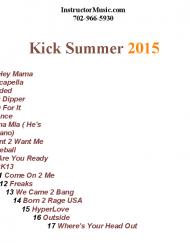 Kick Summer 2015