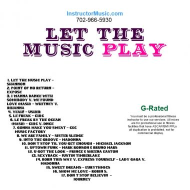 Music Instructor - Let The Music Play - YouTube