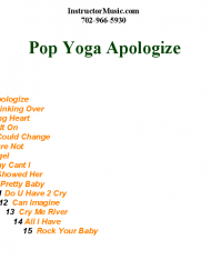 Pop Yoga Apologize