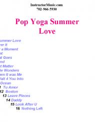 Pop Yoga Summer Love
