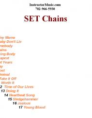 SET Chains