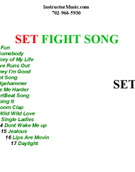 SET FIGHT SONG