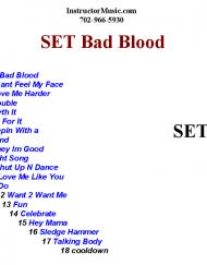 Set Bad Blood