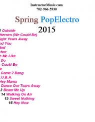 Spring PopElectro 2015