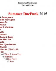 Summer DncFunk 2015
