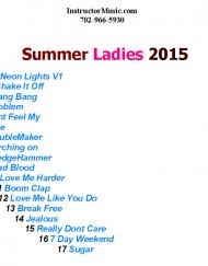 Summer Ladies 2015