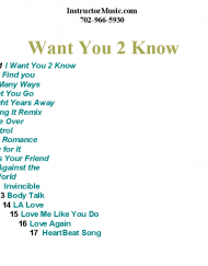 Want You 2 Know